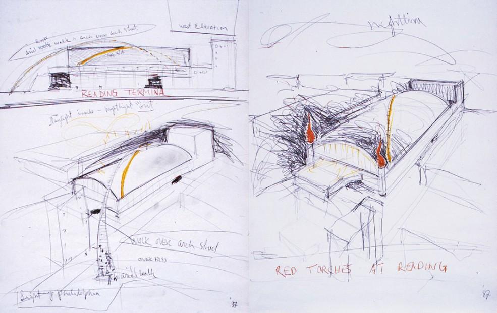 David Ireland's proposal for Reading Terminal. Photo Wayne Cozzolino © 1987.
