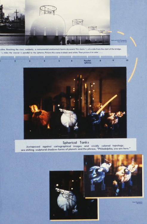 Leni Schwendinger's proposal: <em>Equate Time With Distance</em>. Photo Wayne Cozzolino © 1987.