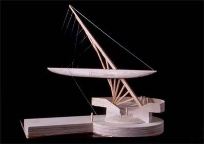 Wood model of proposed Vietnamese monument.