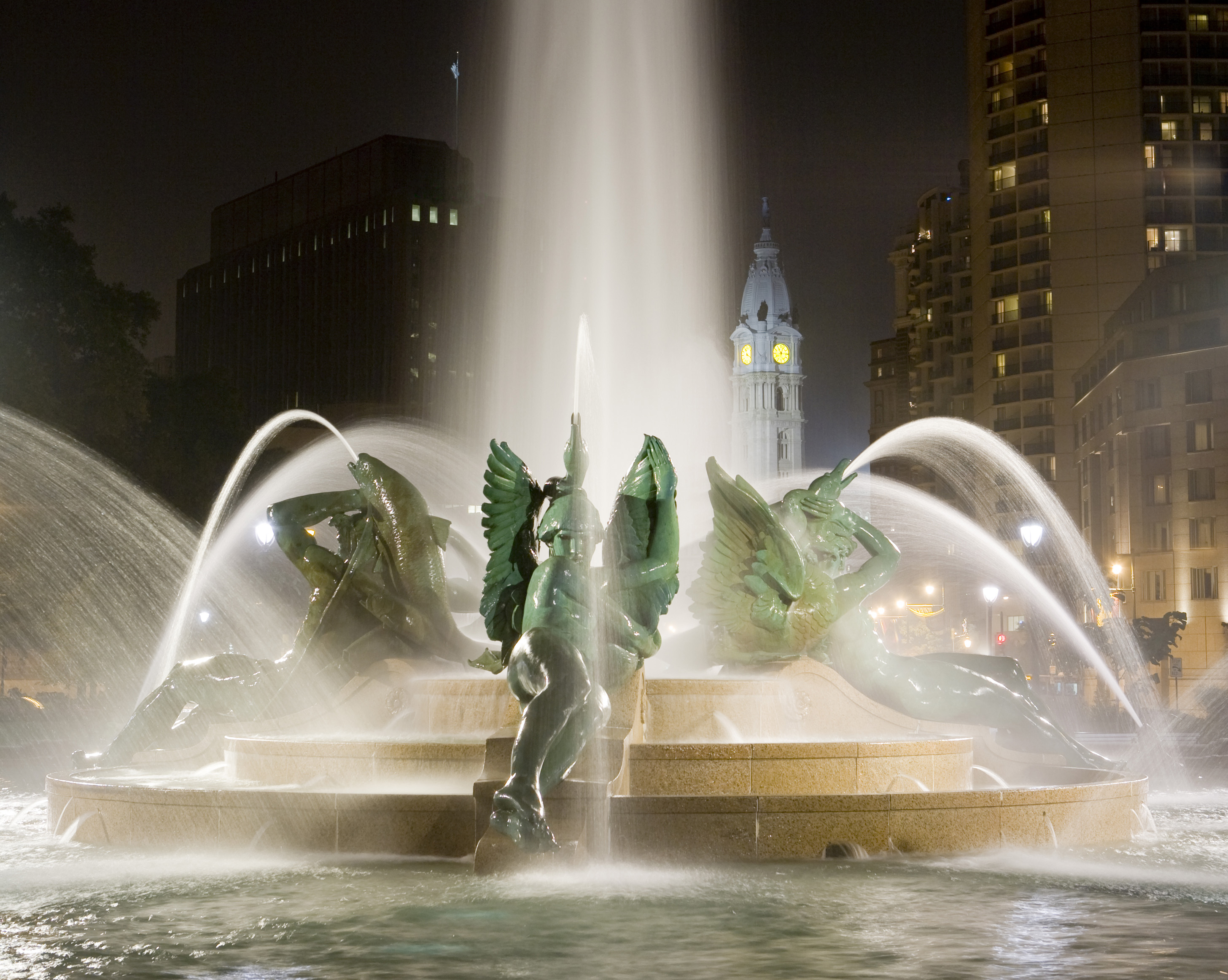 Alexander Stirling Calder's Swann Memorial Fountain and Alexander Milne Calder's William Penn