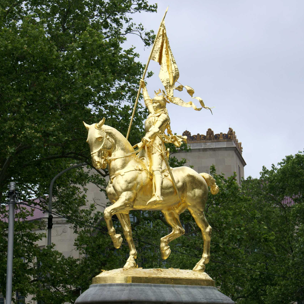 Emmanuel Frémiet's Joan of Arc near the Philadelphia Museum of Art