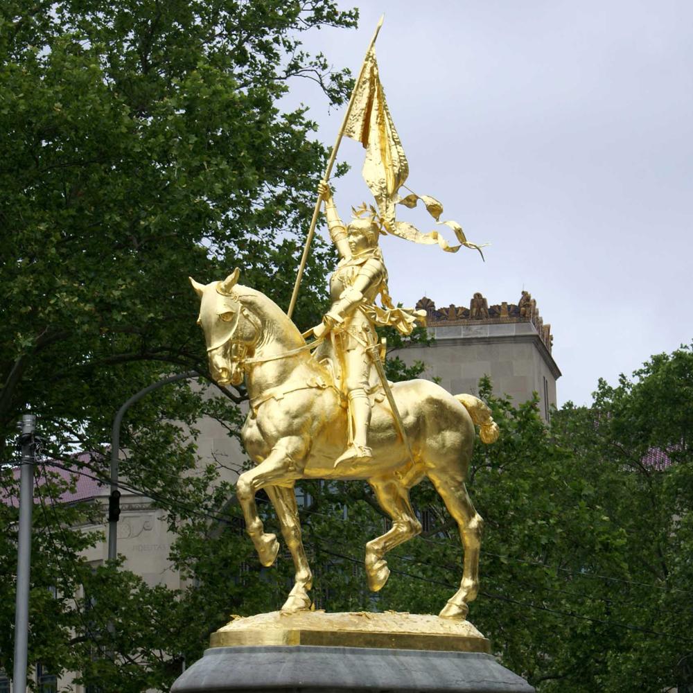 Emmanuel Frémiet's Joan of Arc near the Philadelphia Museum of Art