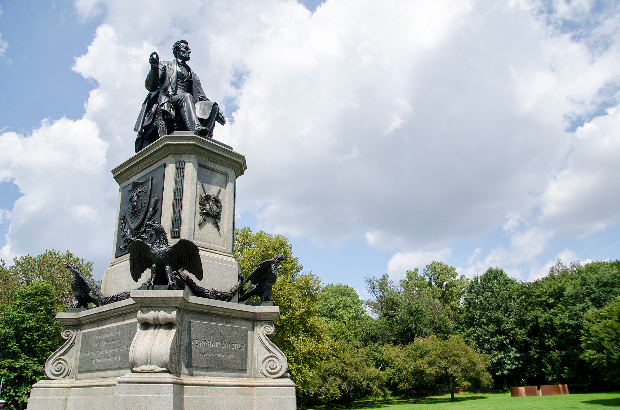 Statue of Abraham Lincoln in Fairmount Park