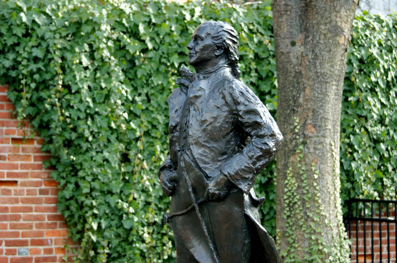 Benjamin Franklin with Kite