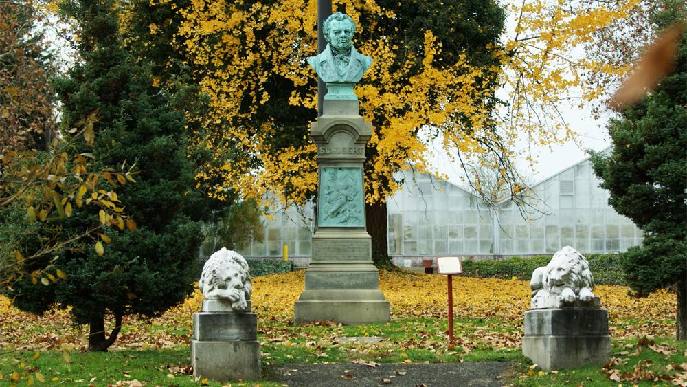 Henry Baerer's Franz Schubert near the Horticulture Center