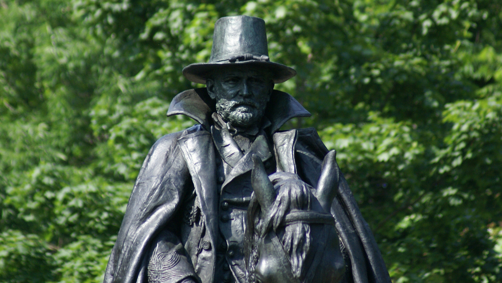 A detail of General Grant's face
