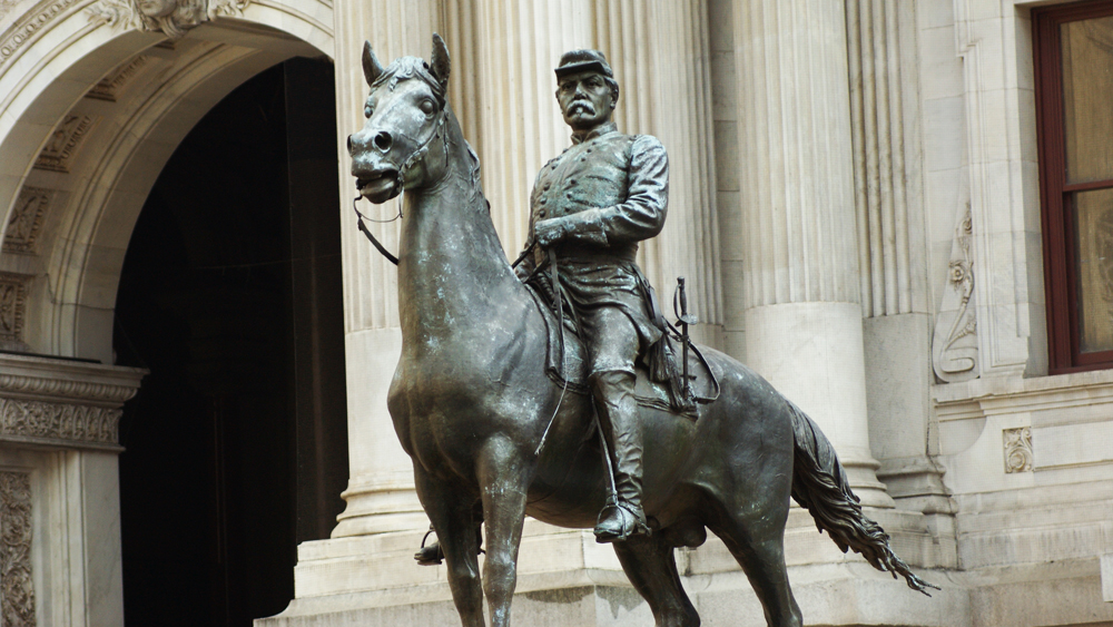 Henry Jackson Ellicott's equestrian sculpture of General George McClellan