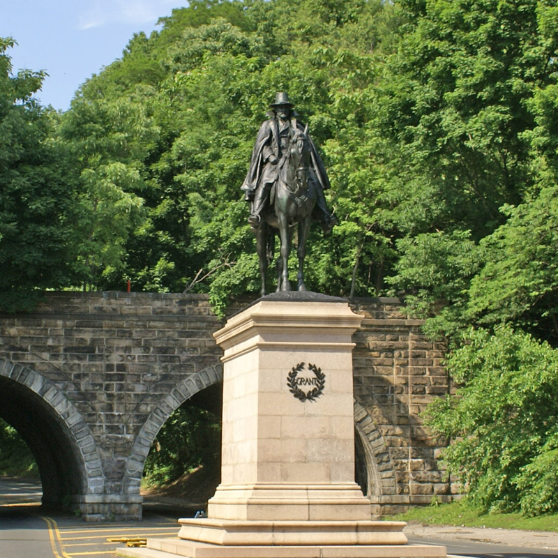 Artists French and Potter's sculpture of General Ulysses S. Grant on Kelly Drive