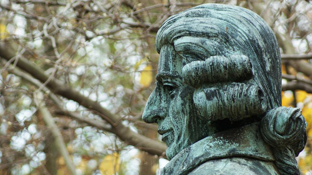 Idusch and Son's bust of Joseph Haydn in West Fairmount Park