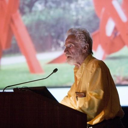 Artist Mark di Suvero speaks at the Fairmount Park Art Association's 135th Annual Meeting