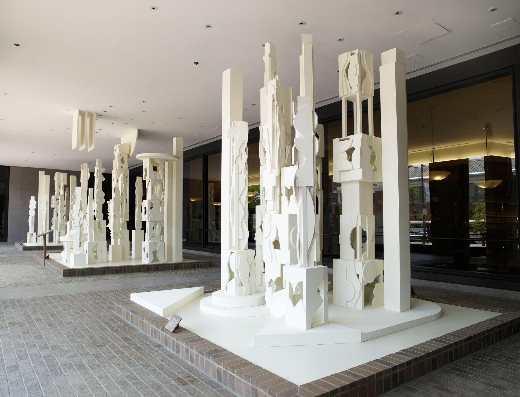 Bicentennial Dawn white sculpture