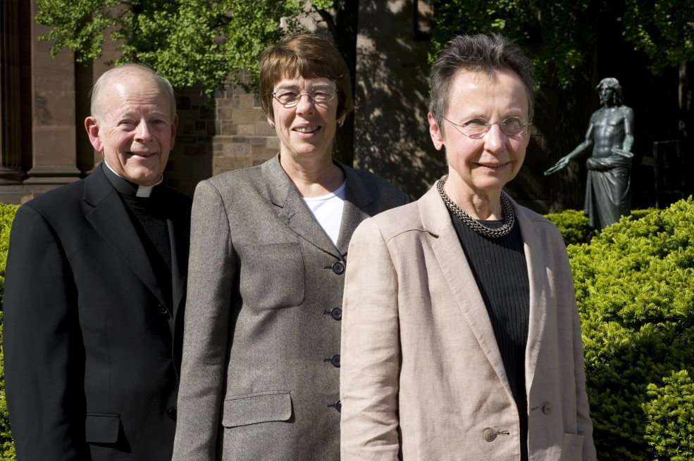 Museum Without Walls™: AUDIO voices for <em>Jesus Breaking Bread</em> from left to right: Monsignor Jonathan Miller, Sister Mary Scullion, Martha Erlebacher. Photo Albert Yee © 2010 for the Association for Public Art.