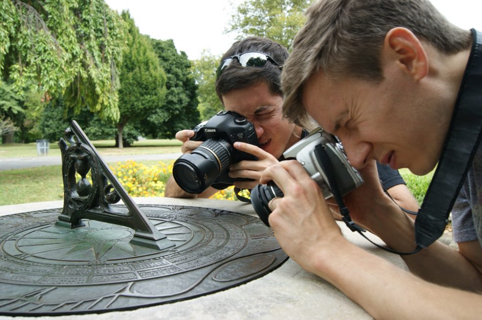 Macro Photography workshop at the Fairmount Park Horticulture Center for <em>Public Art in Focus</em>. Photo Caitlin Martin © 2016 for the Association for Public Art.