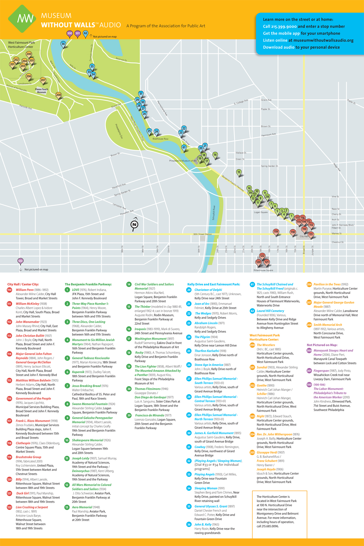 Museum Without Walls™ AUDIO brochure map
