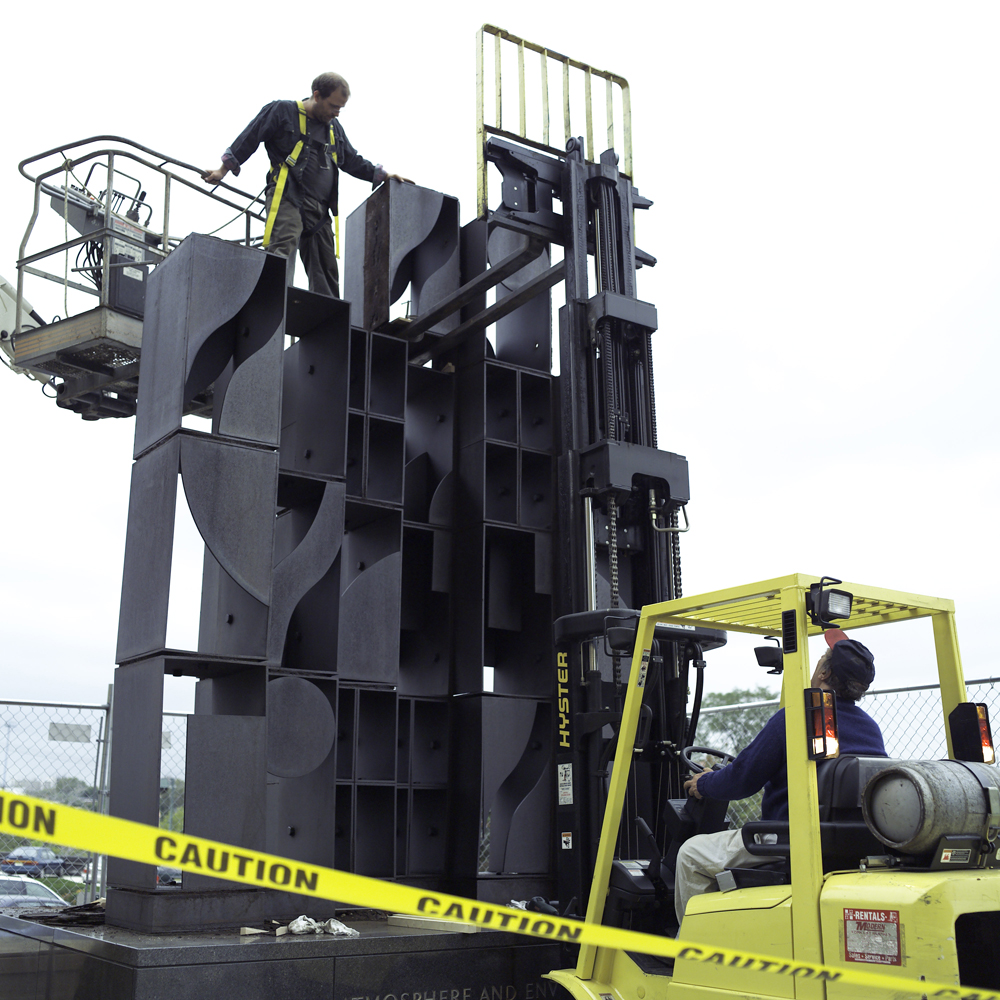 The 2007 conservation and reinstallation of Louise Nevelson's Atmosphere and Environment XII at the Philadelphia Museum of Art.
