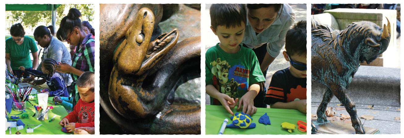 Sculpture Zoo in Rittenhouse Square