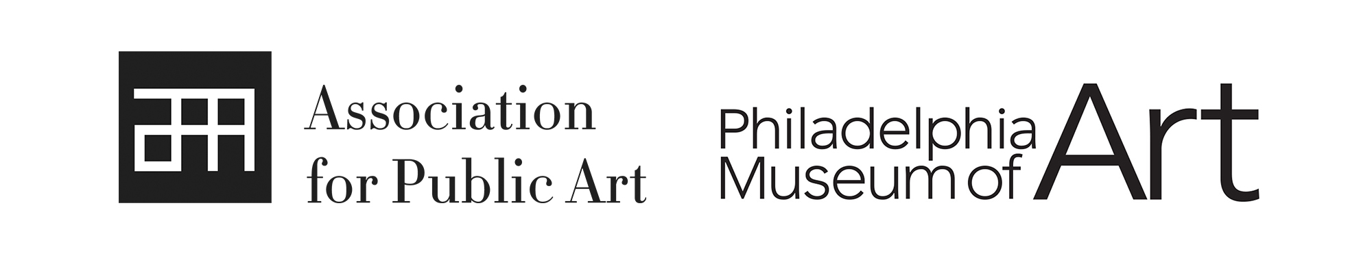 Logos for the Association for Public Art and the Philadelphia Museum of Art