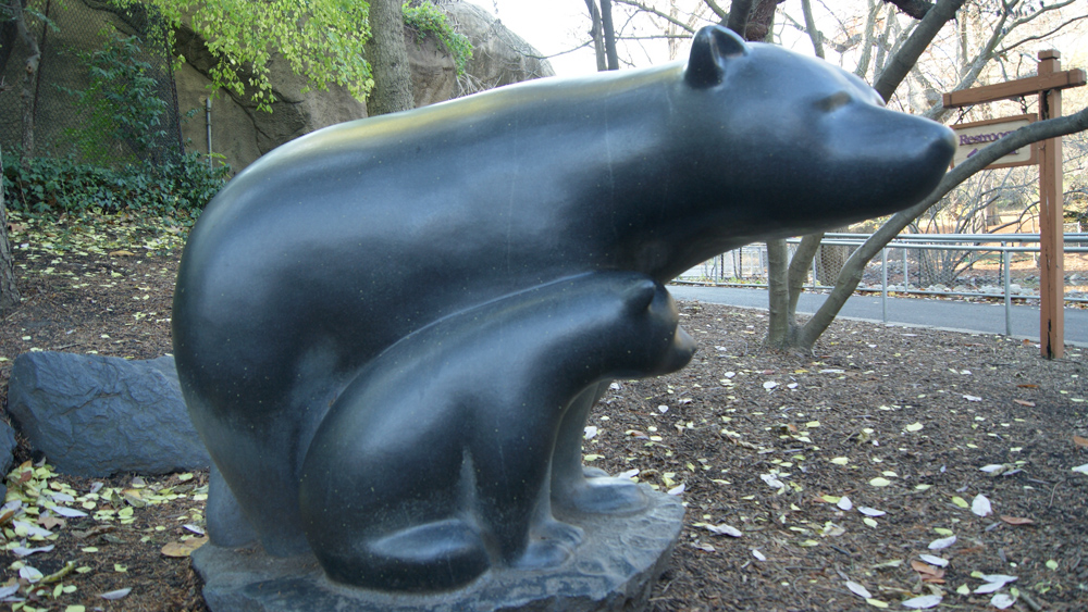 Bear and Cub sculpture at the Philadelphia Zoo