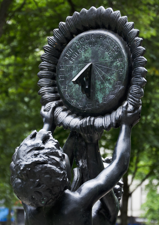Evelyn Taylor Price Sundial in Rittenhouse Square