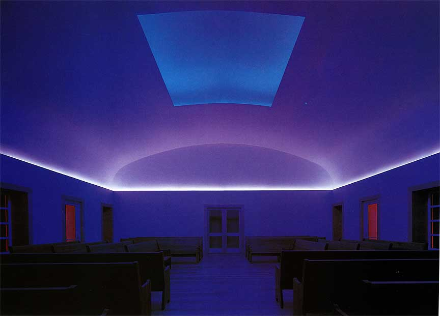 """Night Piece"" (2000, interior) by artist James Turrell, commissioned by the Live Oaks Friends Meeting"