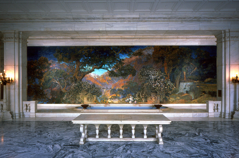 Dream Garden by Maxfield Parrish