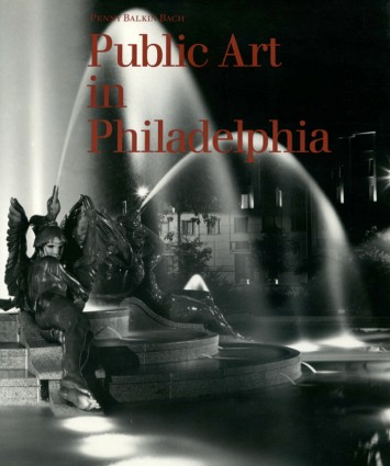 Cover of the Public Art in Philadelphia book, which shows the Swann Memorial Fountain at night