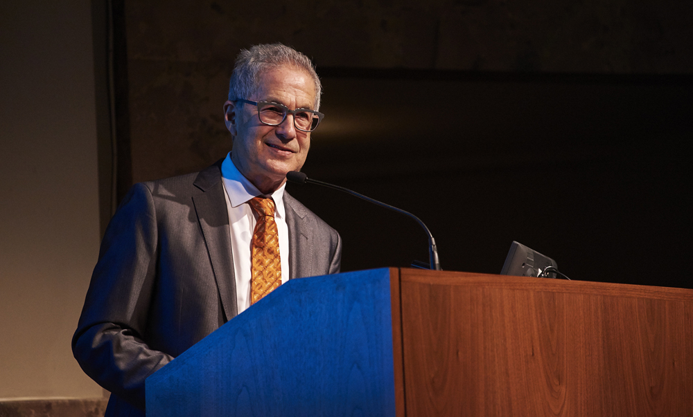 Guest speaker Marc Pally at the Association for Public Art's 144th Annual Meeting at the Philadelphia Museum of Art.