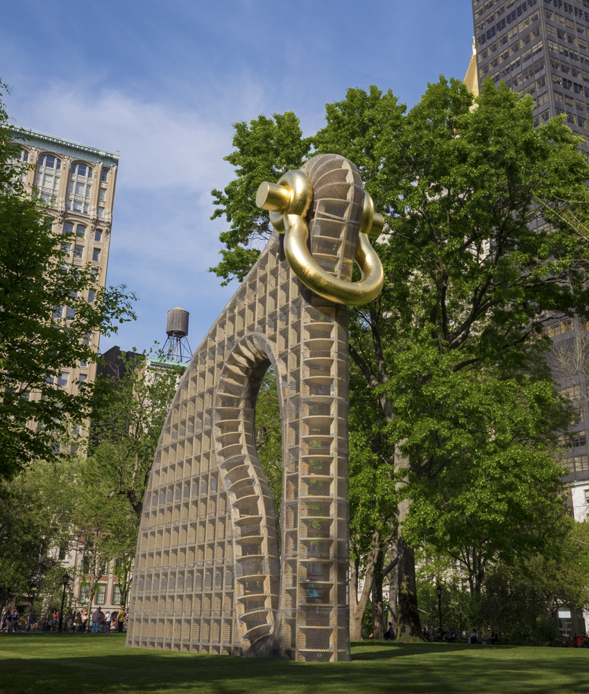 Martin Puryear's Big Bling sculpture installed at Madison Square Park