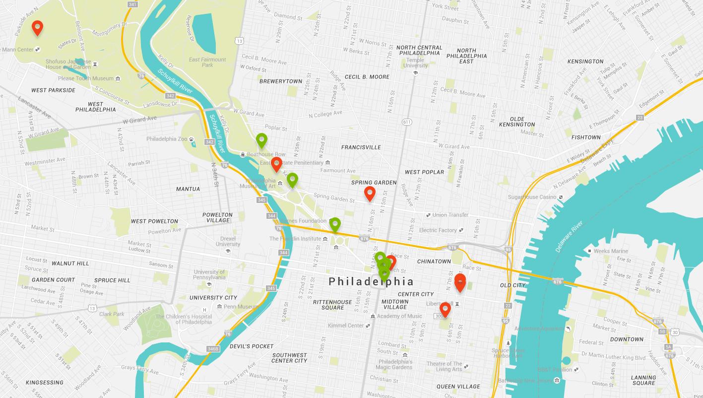 Political public art map