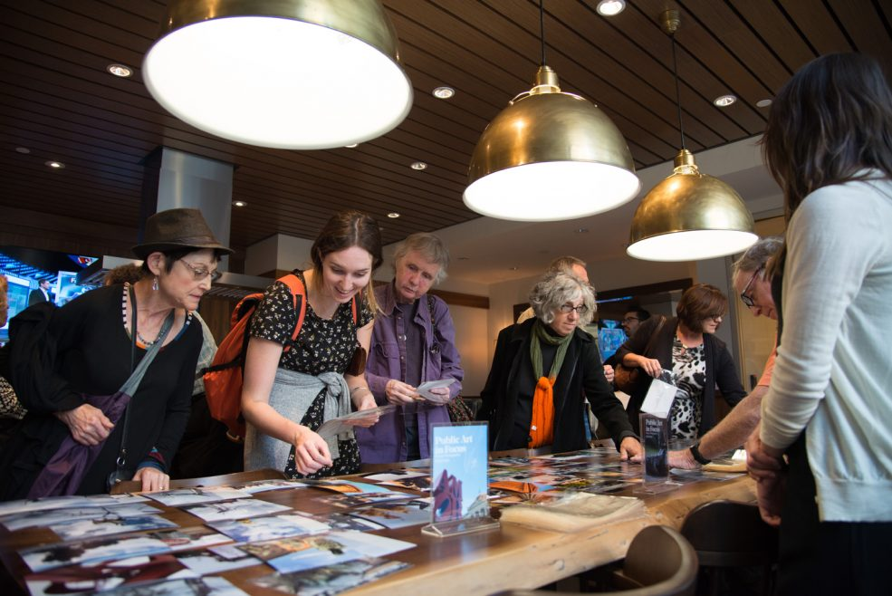 <em>Public Art in Focus</em> closing event at Park Towne Place Museum District Residences. Photo by Johanna Austin, www.AustinArt.org.