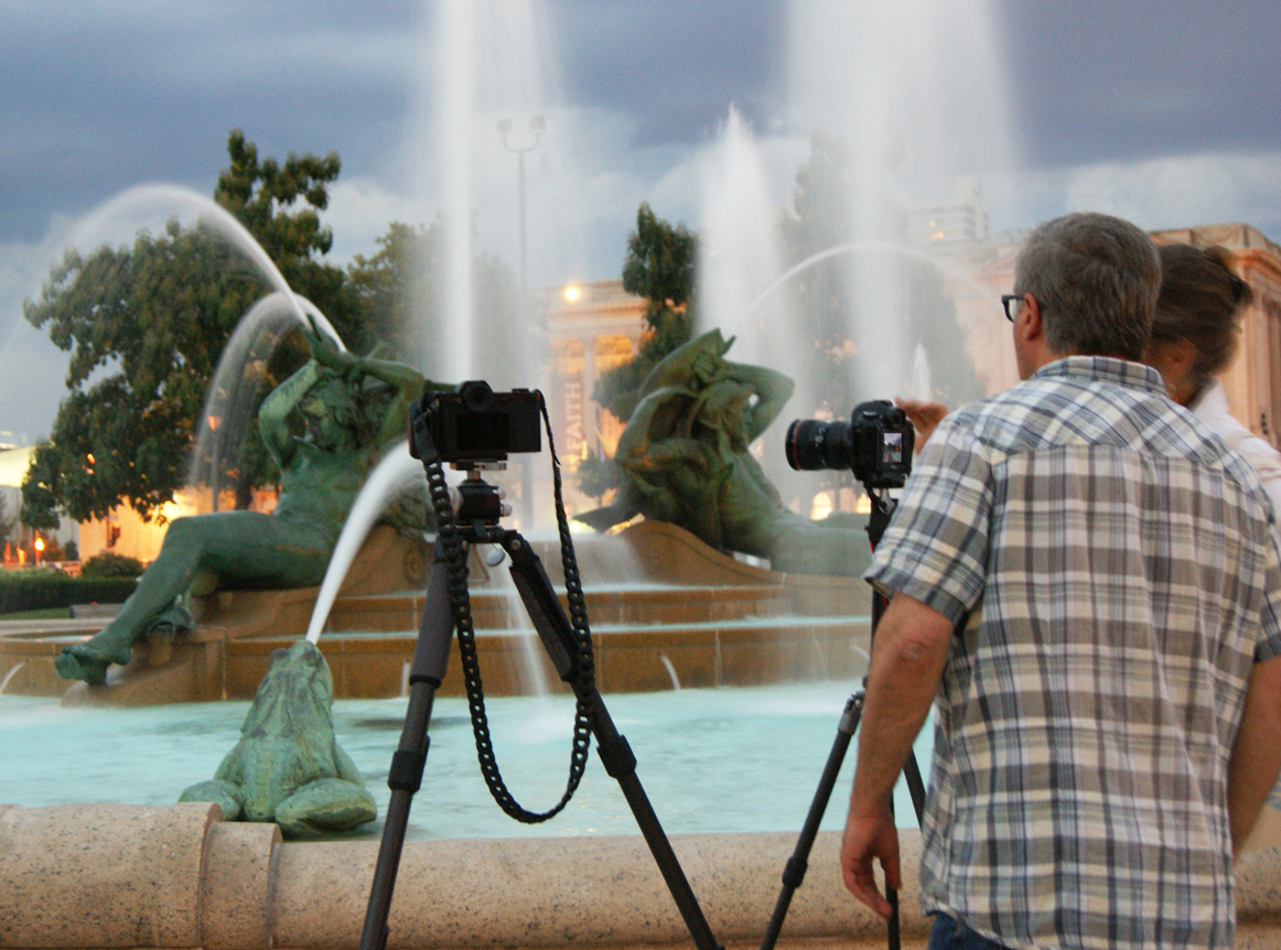 Night Photography workshop at Swann Fountain