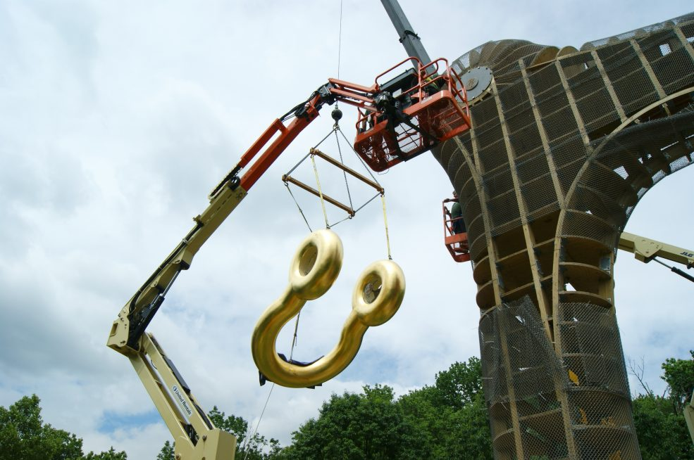 Martin Puryear, <em>Big Bling</em>, 2016. Collection of the artist, courtesy of Matthew Marks Gallery © Martin Puryear. Photo Alec Rogers © 2017 for the Association for Public Art.