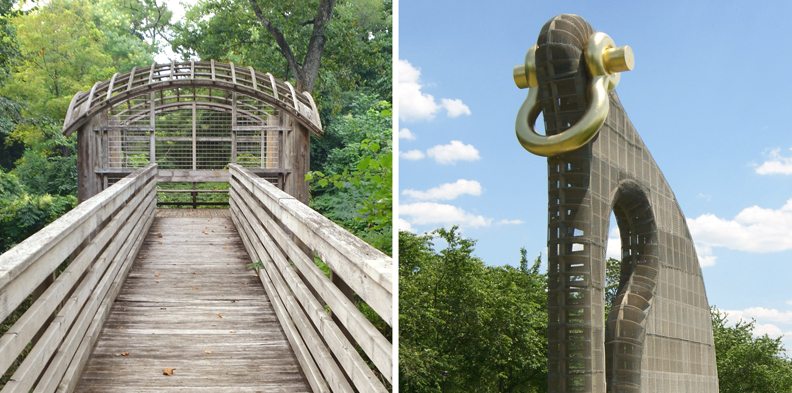 Martin Puryear artworks that will be highlighted during the tour: Pavilion in the Trees and Big Bling