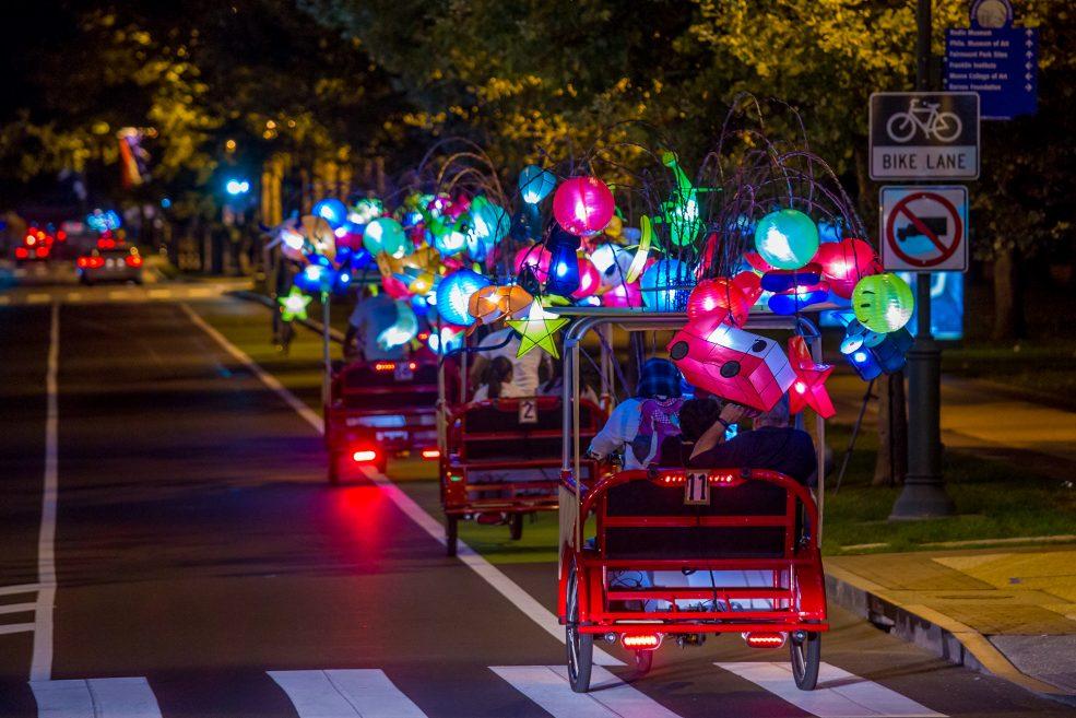 <em>Cai Guo-Qiang: Fireflies</em> on the Parkway. Photo Jeff Fusco Photography © 2017.
