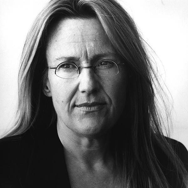 Black and white photo of artist Jennifer Steinkamp