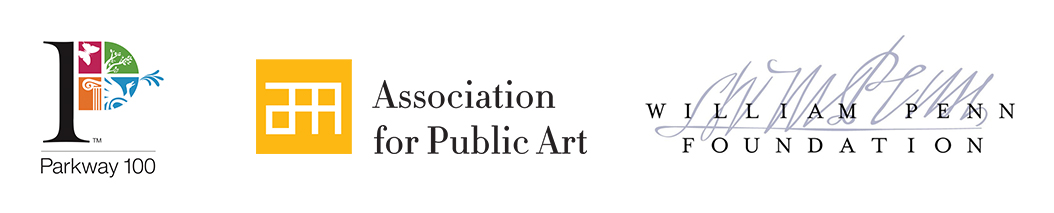 Winter Fountains logos - Parkway Council, Association for Public Art, William Penn Foundation