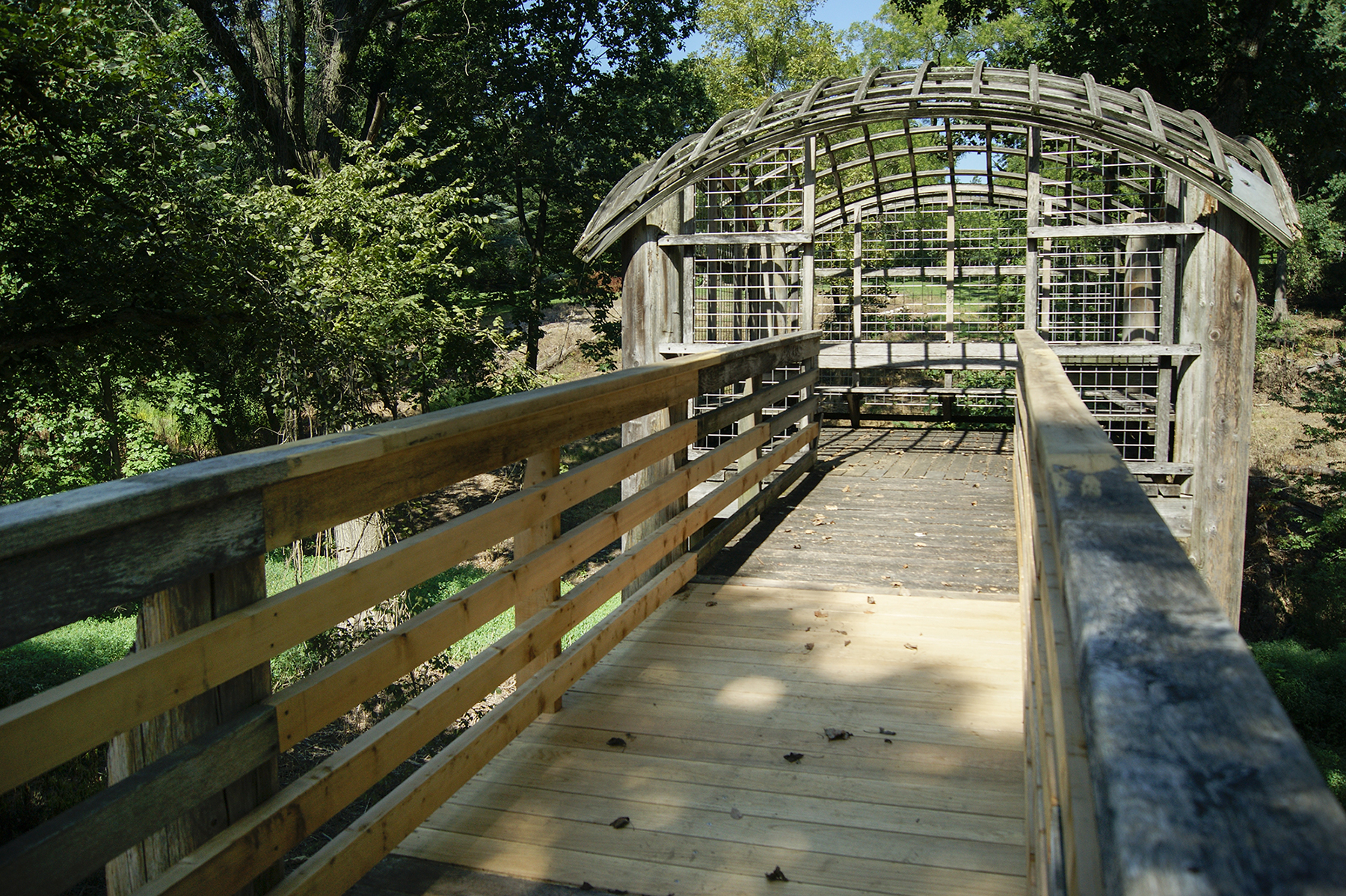 The replaced walkway of Pavilion