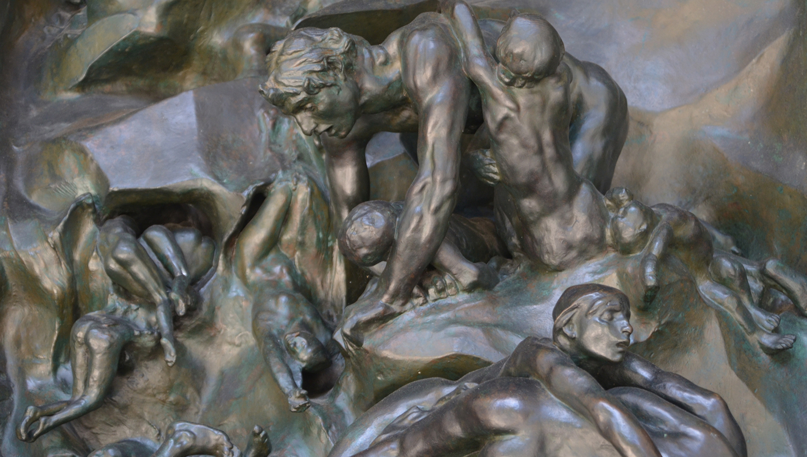 Detail of Rodin's Gates of Hell