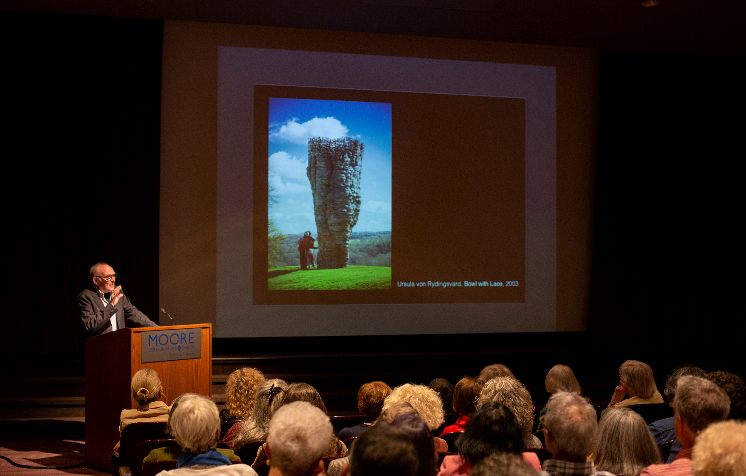 Yorkshire Sculpture Park's Peter Murray speaks at the Assocation's Annual Meeting at Moore College of Art & Design, Philadelphia