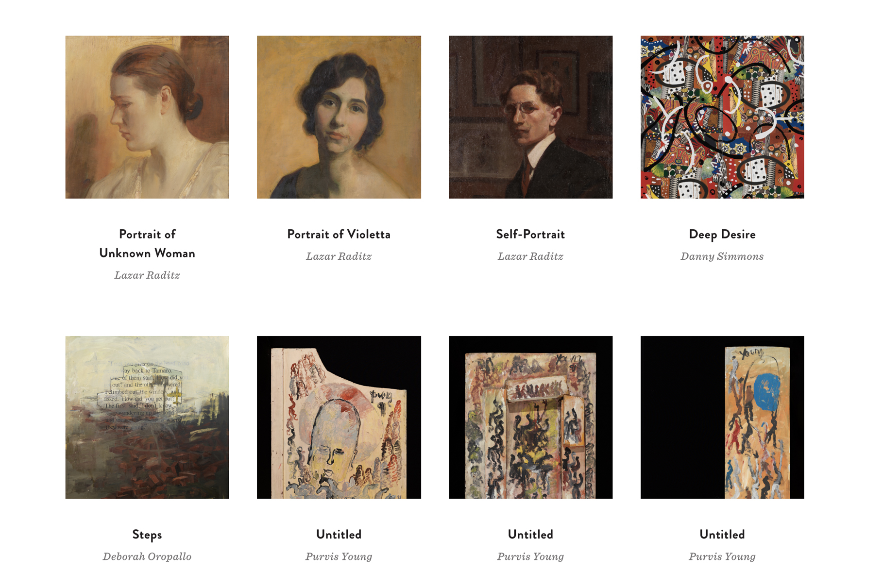 PAFA's online collection - screenshot