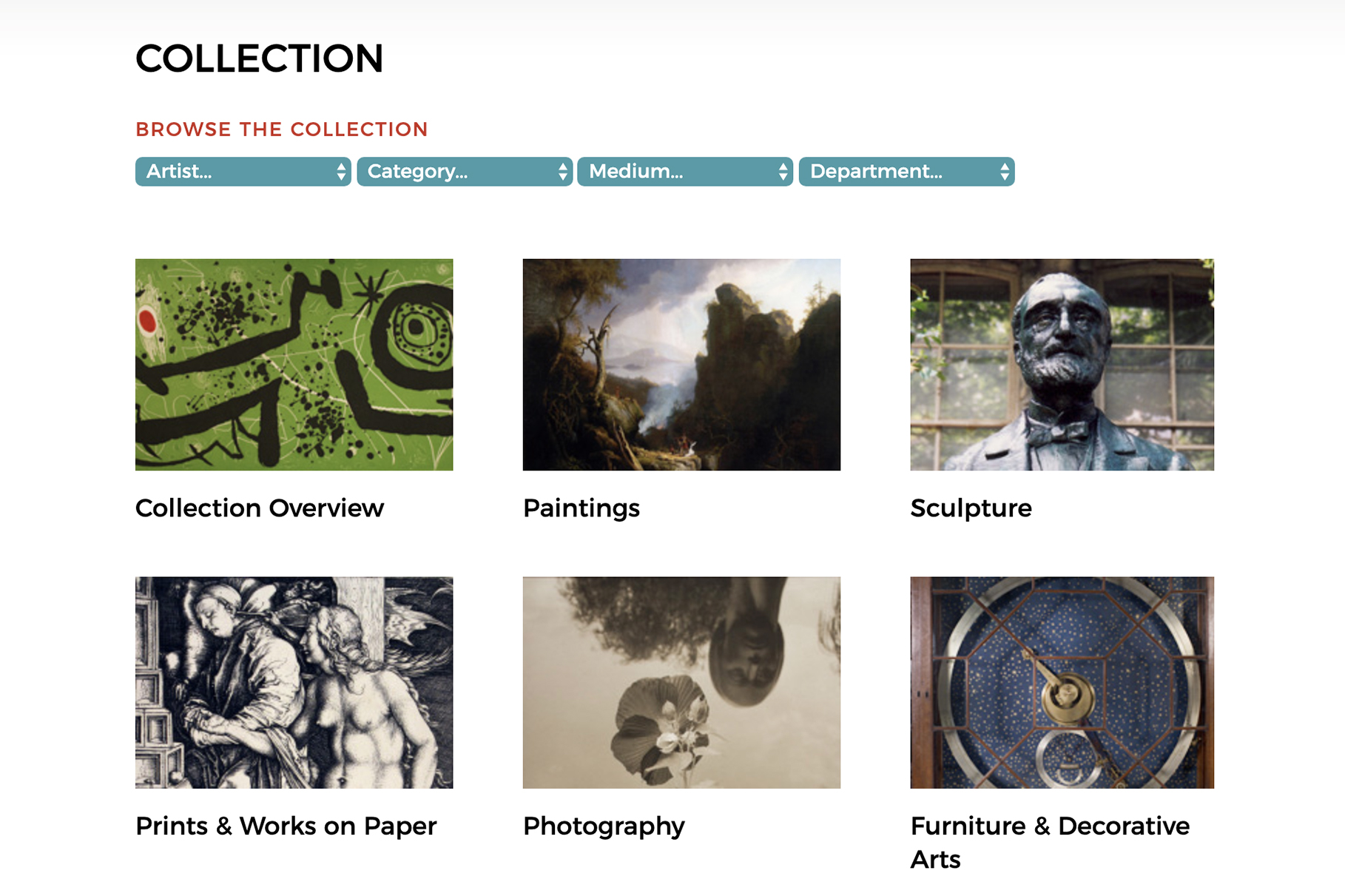 Penn Art Collection online - screenshot