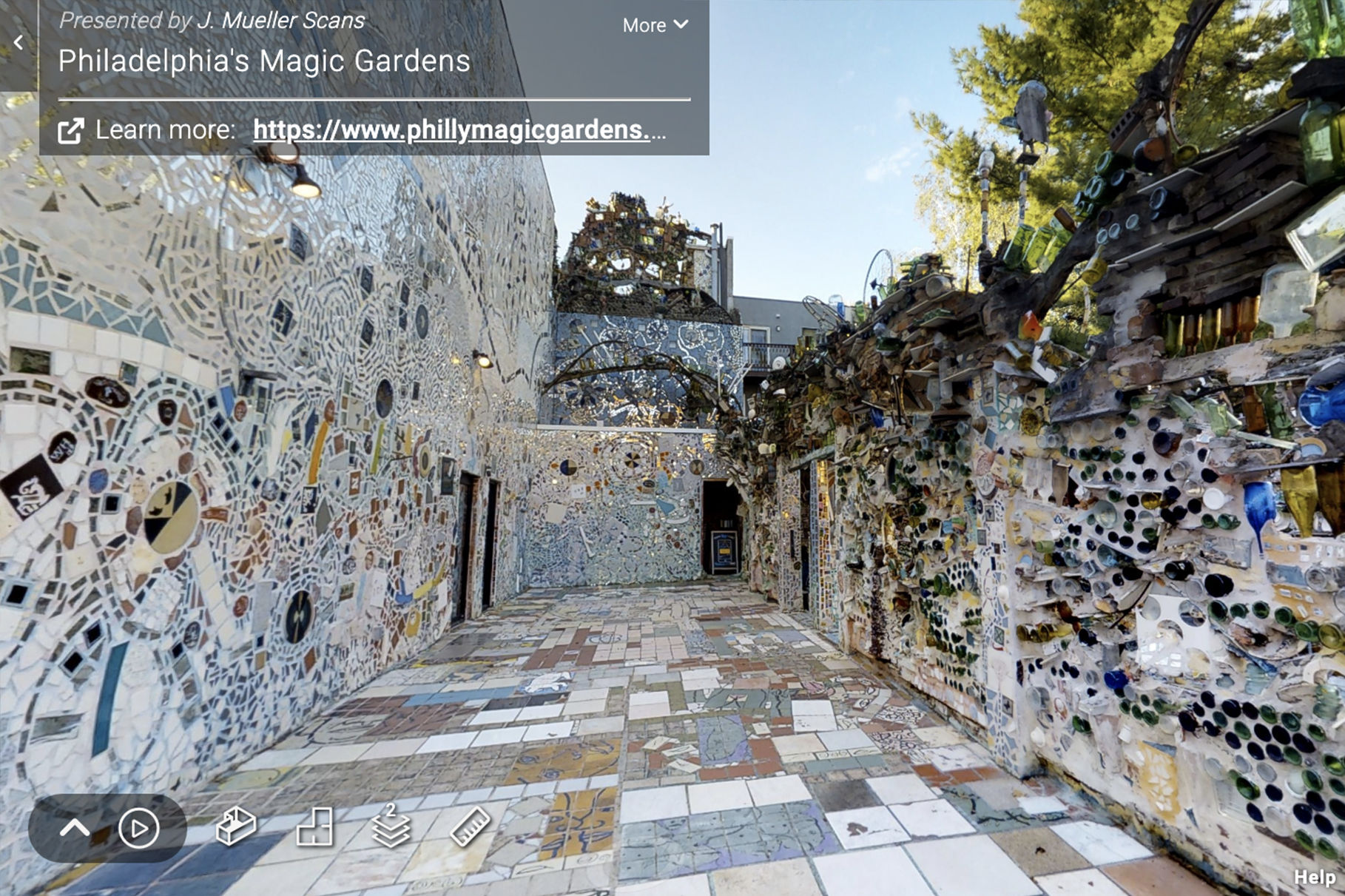 Virtual tour of Philadelphia Magic Gardens