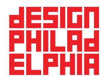 DesignPhiladelphia logo - blocky red letters