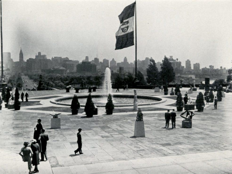 The Association for Public Art's 1949 Sculpture International Exhibition at the Philadelphia Museum of Art, where <em>Maja</em> was first installed. Photo © Association for Public Art.