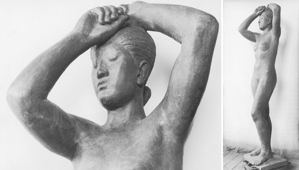<em>Maja</em> by artist Gerhard Marcks. Other casts of the sculpture are located at the Franklin D. Murphy Sculpture Garden on the UCLA campus; outside Kunsthalle Emden in Germany; and at the Kunst Museum Winterthur in Switzerland. Photos © Gerhard-Marcks-Stift ung, Bremen.