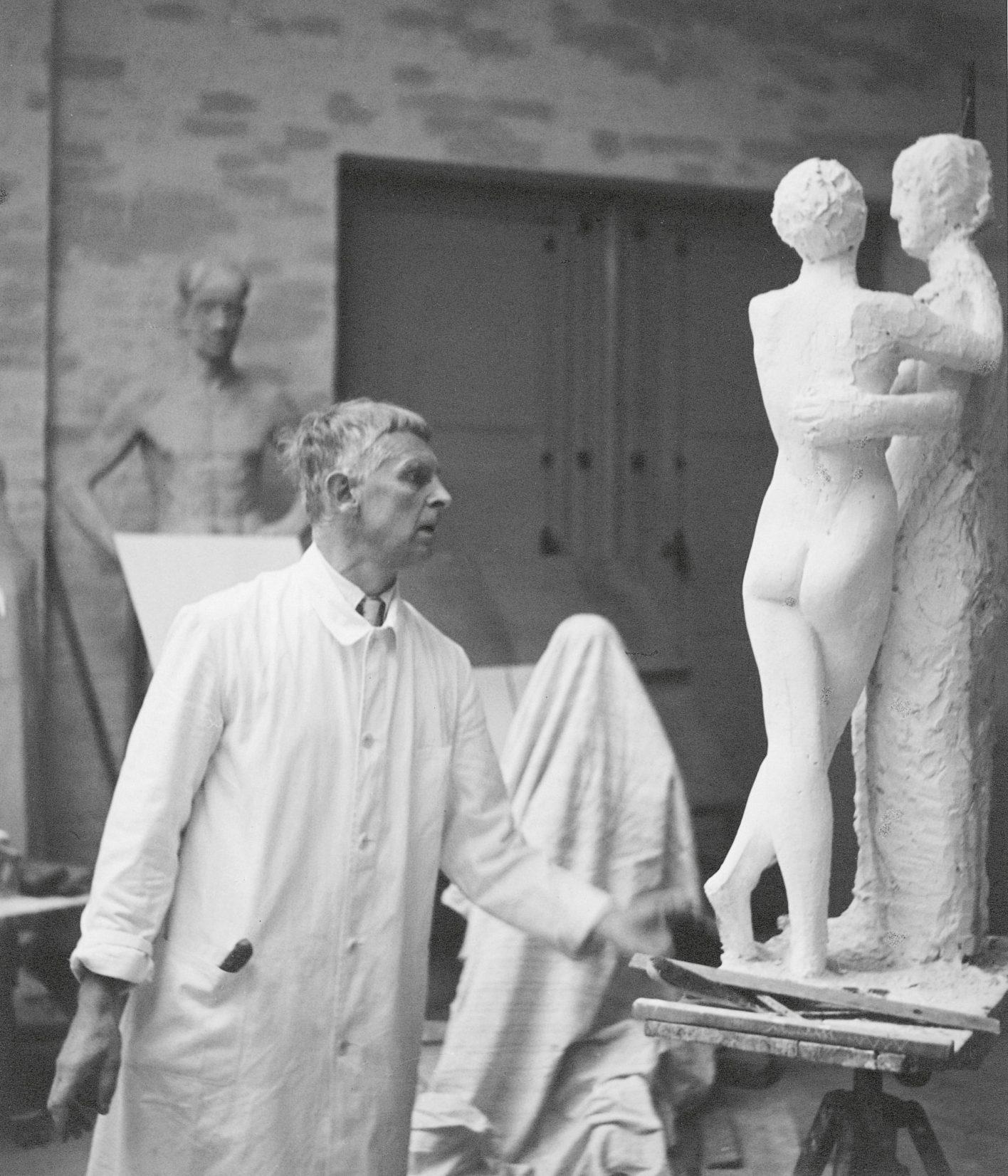 black and white photo of Gerhard Marcks